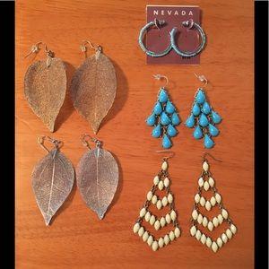 Jewelry - Five Fashion Earring Lot